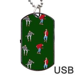 Drake Ugly Holiday Christmas 2 Dog Tag USB Flash (Two Sides)