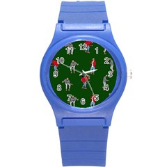 Drake Ugly Holiday Christmas 2 Round Plastic Sport Watch (s)