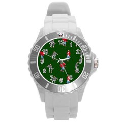 Drake Ugly Holiday Christmas 2 Round Plastic Sport Watch (L)