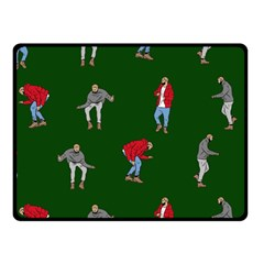 Drake Ugly Holiday Christmas 2 Double Sided Fleece Blanket (Small)
