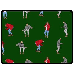 Drake Ugly Holiday Christmas 2 Double Sided Fleece Blanket (Large)
