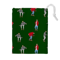 Drake Ugly Holiday Christmas 2 Drawstring Pouches (extra Large)