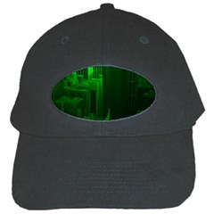 Green Building City Night Black Cap