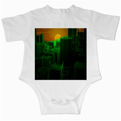 Green Building City Night Infant Creepers