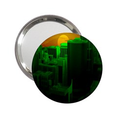 Green Building City Night 2.25  Handbag Mirrors