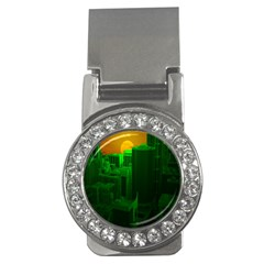 Green Building City Night Money Clips (CZ)