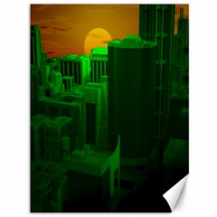 Green Building City Night Canvas 36  x 48