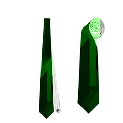Green Building City Night Neckties (One Side)