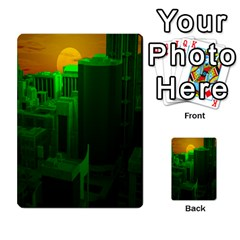 Green Building City Night Multi-purpose Cards (Rectangle)