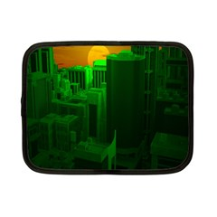 Green Building City Night Netbook Case (Small)