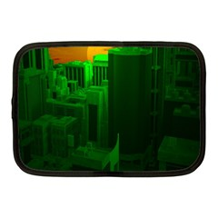 Green Building City Night Netbook Case (Medium)