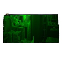 Green Building City Night Pencil Cases
