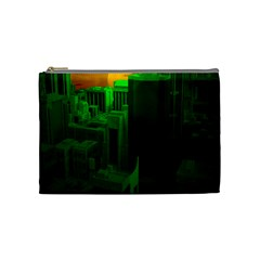 Green Building City Night Cosmetic Bag (Medium)