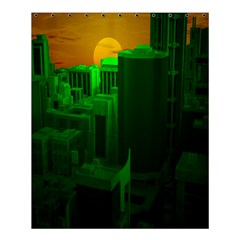 Green Building City Night Shower Curtain 60  x 72  (Medium)