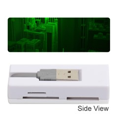 Green Building City Night Memory Card Reader (Stick)