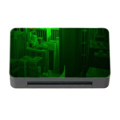 Green Building City Night Memory Card Reader with CF