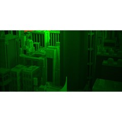 Green Building City Night YOU ARE INVITED 3D Greeting Card (8x4)