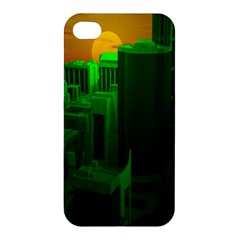 Green Building City Night Apple iPhone 4/4S Hardshell Case