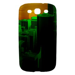 Green Building City Night Samsung Galaxy S III Hardshell Case