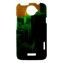 Green Building City Night HTC One X Hardshell Case