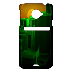 Green Building City Night HTC Evo 4G LTE Hardshell Case