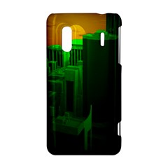 Green Building City Night HTC Evo Design 4G/ Hero S Hardshell Case
