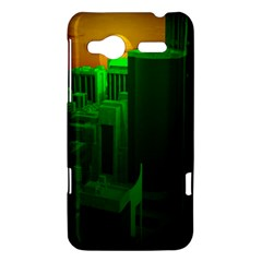 Green Building City Night HTC Radar Hardshell Case