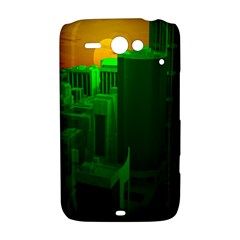 Green Building City Night HTC ChaCha / HTC Status Hardshell Case