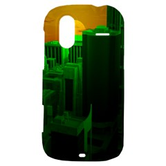 Green Building City Night HTC Amaze 4G Hardshell Case