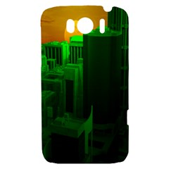 Green Building City Night HTC Sensation XL Hardshell Case