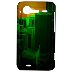 Green Building City Night HTC Incredible S Hardshell Case