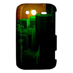 Green Building City Night HTC Wildfire S A510e Hardshell Case