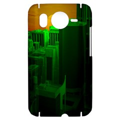 Green Building City Night HTC Desire HD Hardshell Case