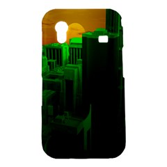 Green Building City Night Samsung Galaxy Ace S5830 Hardshell Case