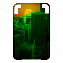 Green Building City Night Kindle 3 Keyboard 3G