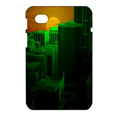 Green Building City Night Samsung Galaxy Tab 7  P1000 Hardshell Case
