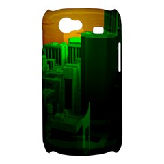 Green Building City Night Samsung Galaxy Nexus S i9020 Hardshell Case