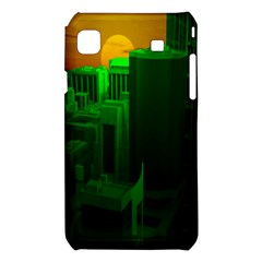 Green Building City Night Samsung Galaxy S i9008 Hardshell Case