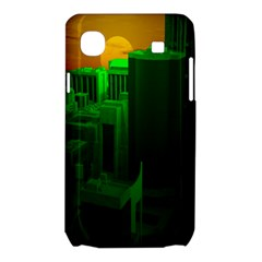 Green Building City Night Samsung Galaxy SL i9003 Hardshell Case