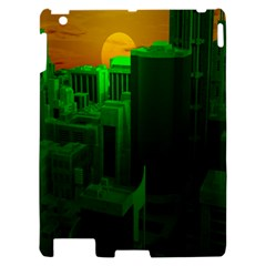 Green Building City Night Apple iPad 2 Hardshell Case