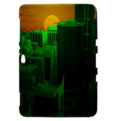 Green Building City Night Samsung Galaxy Tab 8.9  P7300 Hardshell Case