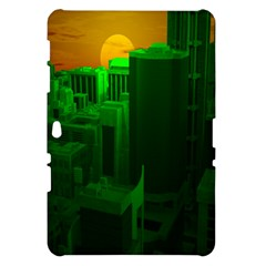 Green Building City Night Samsung Galaxy Tab 10.1  P7500 Hardshell Case