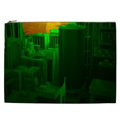 Green Building City Night Cosmetic Bag (XXL)