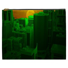 Green Building City Night Cosmetic Bag (XXXL)