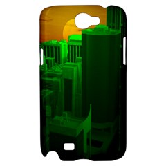 Green Building City Night Samsung Galaxy Note 2 Hardshell Case