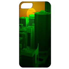 Green Building City Night Apple iPhone 5 Classic Hardshell Case