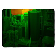 Green Building City Night Kindle Fire (1st Gen) Flip Case
