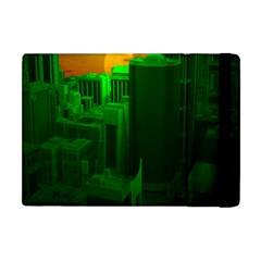 Green Building City Night Apple iPad Mini Flip Case