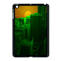 Green Building City Night Apple iPad Mini Case (Black)