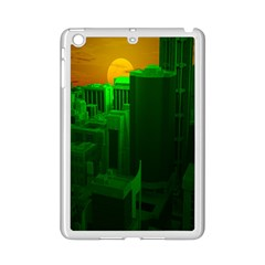 Green Building City Night iPad Mini 2 Enamel Coated Cases